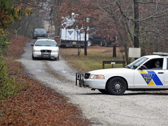New Jersey State Police investigate a double homicide
