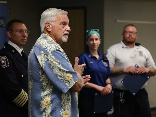 Greg Yost thanks first responders who helped save his