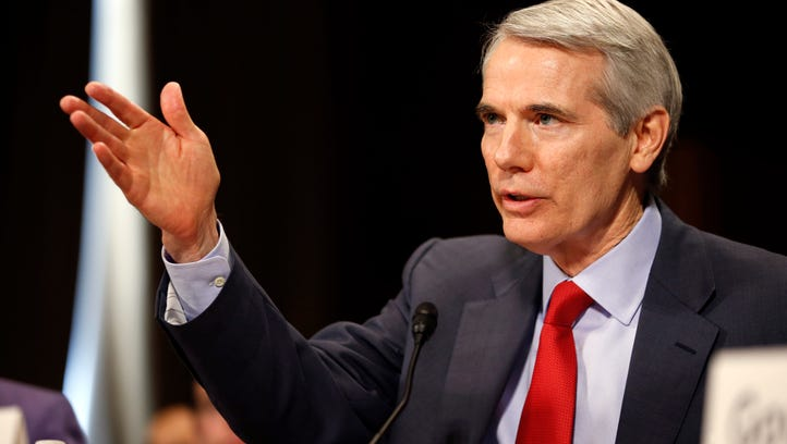 Sen. Rob Portman, R-Ohio, testifies during a recent Senate Judiciary Committee hearing.