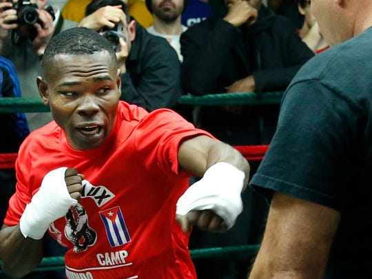 Guillermo Rigondeaux during a media workout this week in New York.