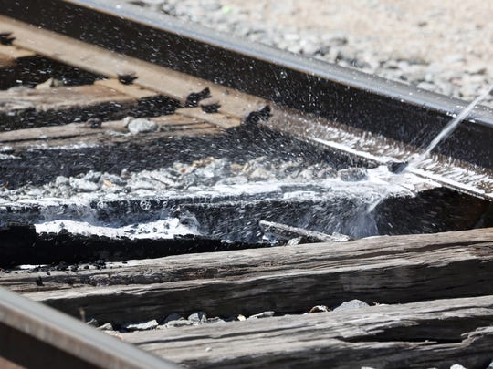 Manitowoc Fire Department responded to a railroad tie fire near the intersection of Franklin and South 17th streets shortly after 2:30 p.m. Friday. One tie was on fire for a short period of time.