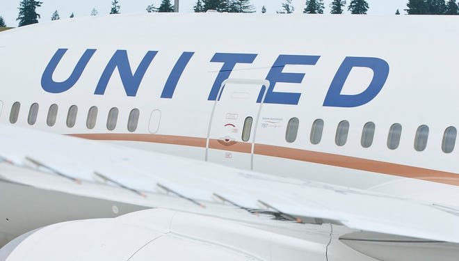 One of United's current Boeing 787 Dreamliners is seen in this photo provided by United Airlines.