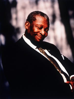 Blues singer B.B. King.