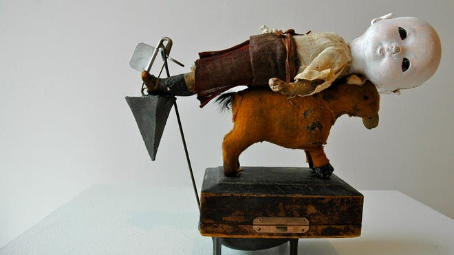 """""""Waiting For Love But I Can't Get Up"""" by Paul Harris, mixed media, 2014"""