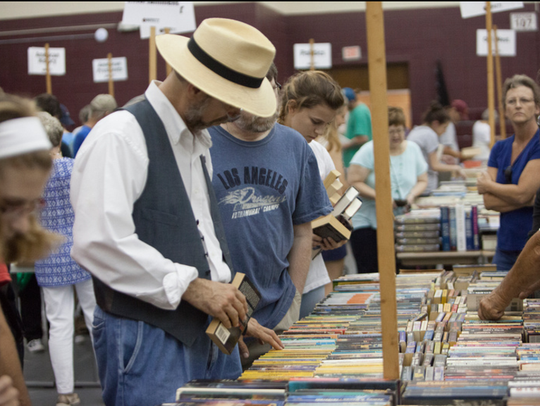 The two-day Book Bazaar event usually brings in about