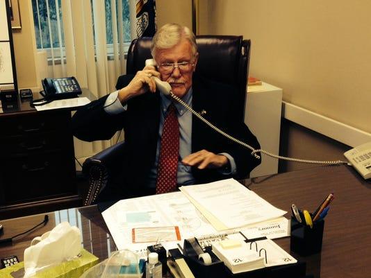 Richard Billings on phone.JPG