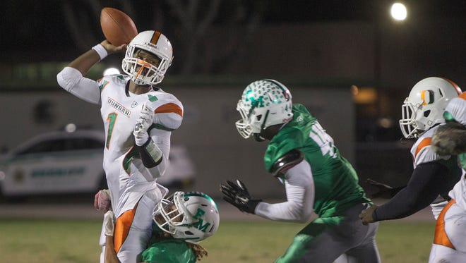 Fort Myers will take on Palmetto Ridge in a Region 6A-3 quarterfinal game Friday while Dunbar hosts Bradenton Southeast in a Region 5A-3 quarterfinal game.
