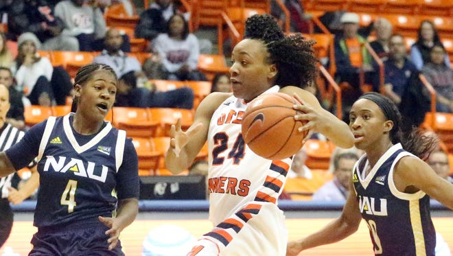 UTEP guard Jenzel Nash will be key for the Miners when they face New Mexico State on Saturday in Las Cruces. UTEP is undefeated with a 6-0 record.