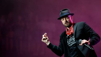 Justin Timberlake performs at Pilgrimage Music & Cultural Festival Saturday, Sept. 23, 2017 at The Park at Harlinsdale in Franklin, Tenn.