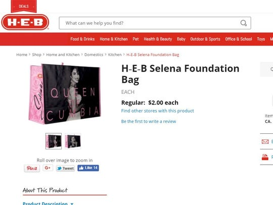 Selena bags sell out online at Heb.com. on Friday,