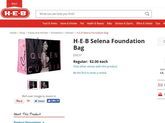 Selena bags sell out online at Heb.com. on Friday, March 2.
