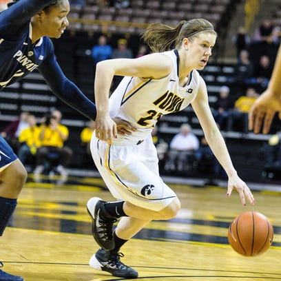 Iowa's Christina Buttenham (23) will play on the Canadian U18/U19 Team this summer that will compete in the 2015 U19 FIBA World Championship.