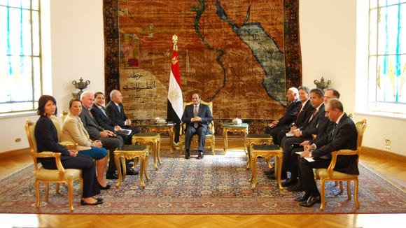 A bipartisan group of U.S. delegates met with Egyptian