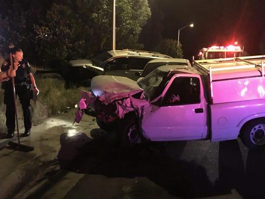 Redding police investigate a Thursday night collision