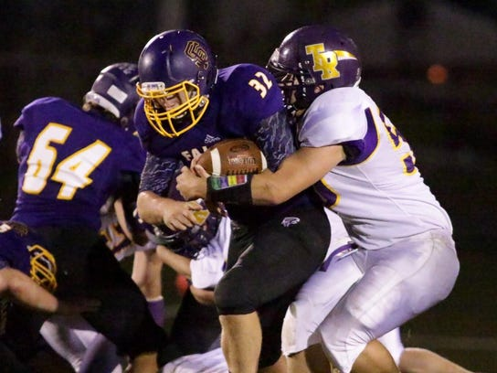 Sheboygan Falls fullback Dustin Setzer finished with