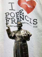 Shoppers looking for Pope Francis souvenirs need to