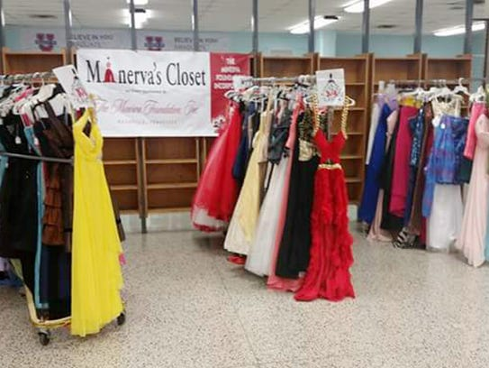 Minerva's Closet offers free prom dresses at an event on Saturday.