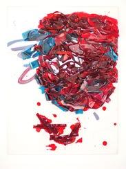 "Vadis Turner, ""Full Vessel,"" 2015. Ribbon, acrylic,"