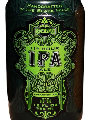 11th Hour IPA beer is brewed by Crow Peak Brewing Co., of Spearfish, S.D.