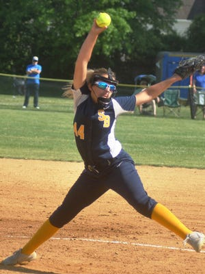 Saddle Brook freshman pitcher Dana Tommas went through freshman growing pains this season in the circle. Despite having a 4.18 ERA Tommas went 13-9 on the season as the Lady Falcons went 17-11 overall.