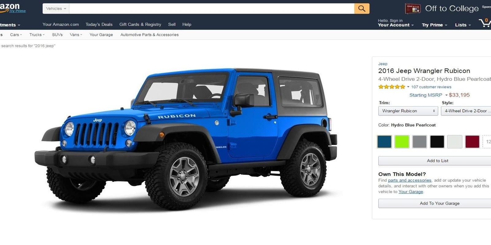 Online Car Sales >> Amazon Takes A Step Toward Possible Online Car Sales