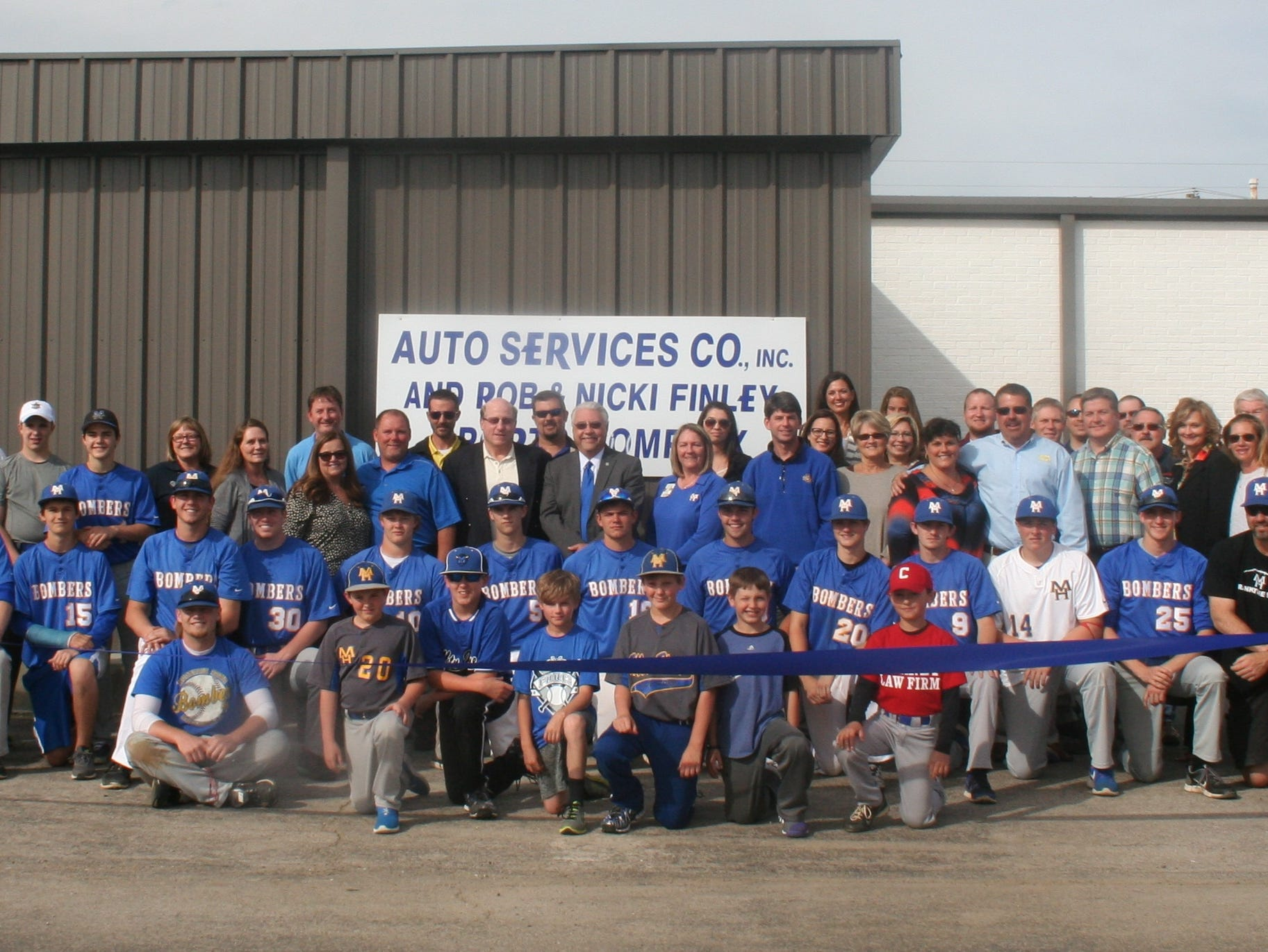 A ribbon-cutting ceremony for the Auto Services Company, Inc. and Rob and Nicki Finley Indoor Sports Facility was held on Monday. The facility offers video pitching simulators for baseball and softball in an 18,000 square foot building.