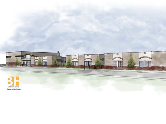 An architectural drawing of the new Northwest Elementary