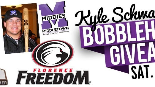 Florence Freedom's Kyle Schwarber bobblehead giveaway