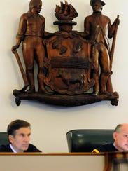 Delaware Supreme Court Justice Randy Holland (left)