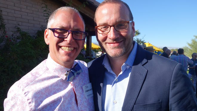 Honoree Jim Obergefell and HRC president Chad Griffin