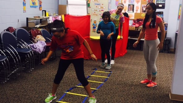 Children and teen club members were invited to learn about fun ways to stay fit when a trainer from Inspira Health Network's PIT (Performance Improvement Training) program visited Cumberland County Library.