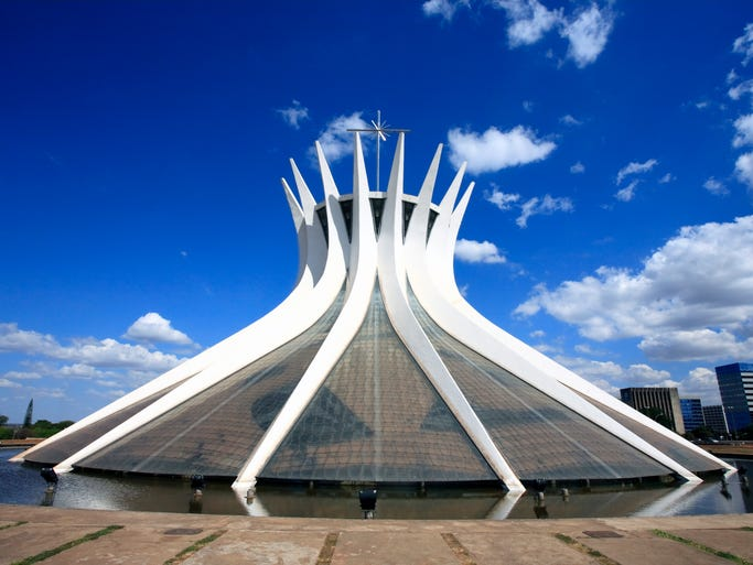 The Metropolitan Cathedral of Our Lady Aparecida                                                          in Brazil's                                                          ca