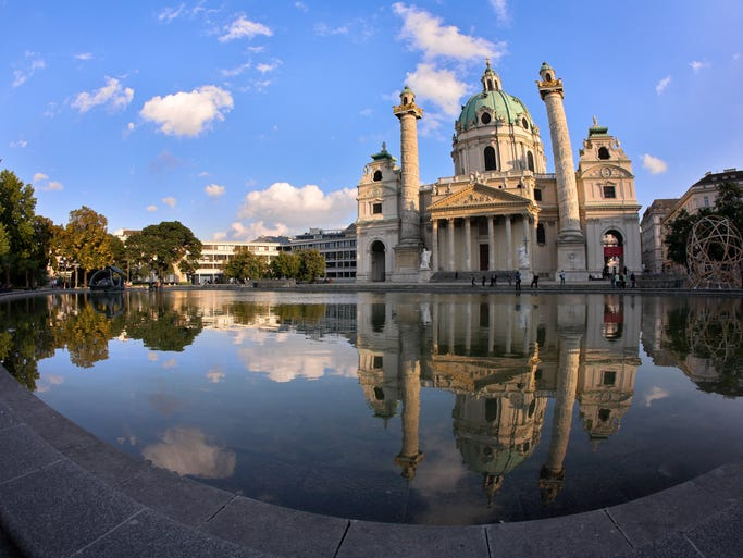 One of the greatest buildings in Vienna, a city                                                          of great                                                          buildi