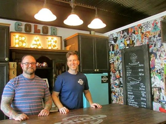 Danny Rainey, left, and Steve Bolinder are the proprietors of Chop Barbershop, which initiated this weekend's Barber Battle