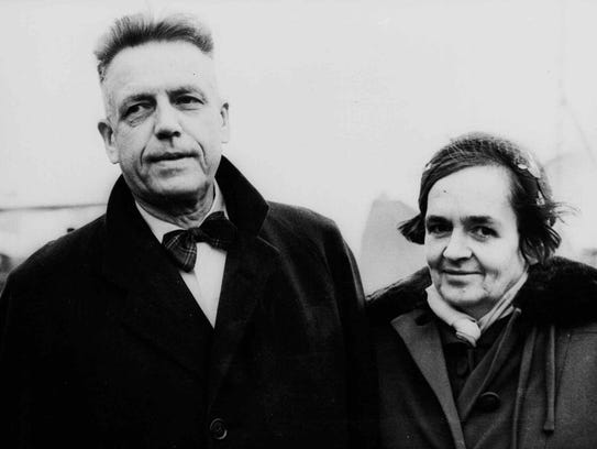 Alfred Kinsey and his wife Clara in 1955.