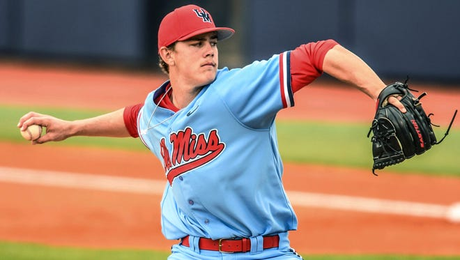 James McArthur pitched six scoreless innings against Tennessee Sunday afternoon.