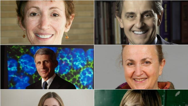 TEDMED 2015 speakers include (clockwise from top left) Roberta Ness, Kevin Tracey, Daria Mochly-Rosen, Laurie Rubin, Elizabeth Iorns,  and Tony Fauci.