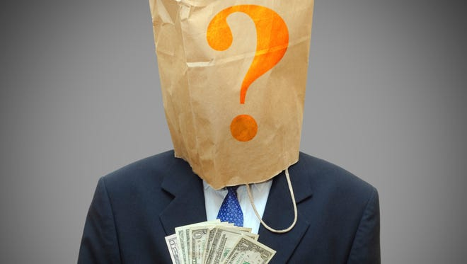 Dark money refers to anonymous political campaign donations.