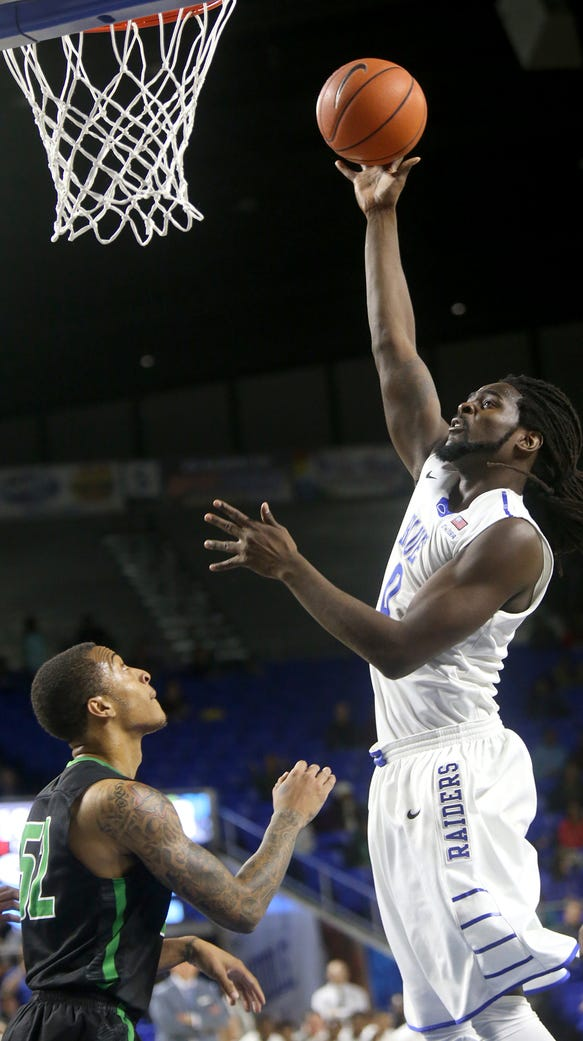 MTSU's Darnell Harris (0) hasn't been his typical self