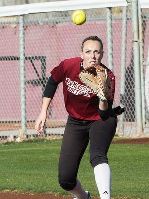 Kelsey Horton and the New Mexico State softball team begin the 2017 season Saturday against Texas-San Antonio.