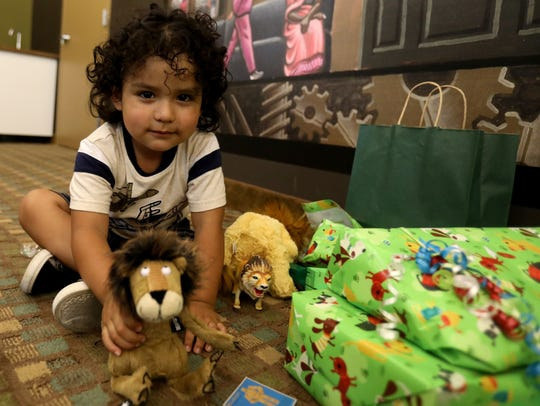 The 3-year-old son of Ever Reyes Mejia, an immigrant