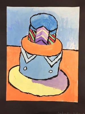 Artwork by Jaelyn Diaz, Grade 4.
