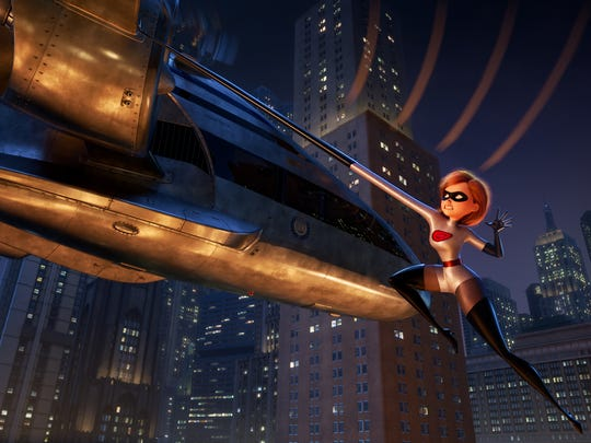 Elastigirl (voiced by Holly Hunter) becomes the face