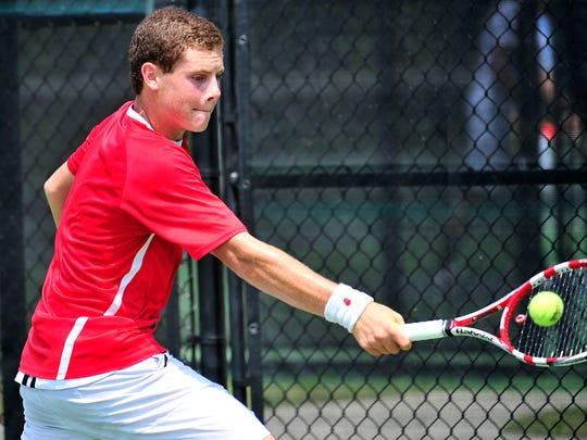 Sean Karl won three state tennis championships while