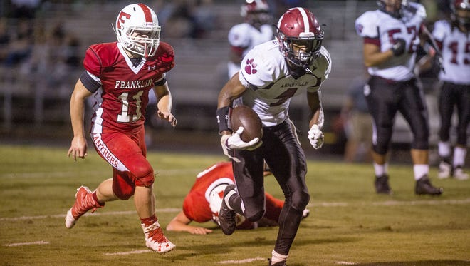 Makaius Brewer and Asheville High were able to come back for a 29-28 win Friday at Franklin.