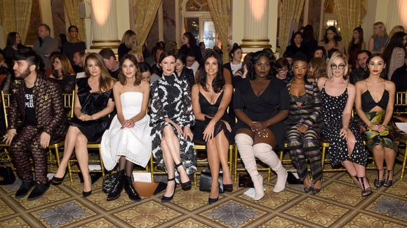 (Some of) the front row: Brad Walsh, Alicia Silverstone,