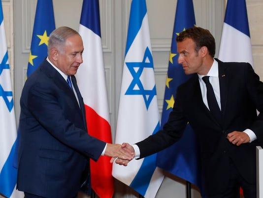 EPA FRANCE ISRAEL DIPLOMACY POL DIPLOMACY FRA