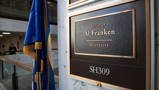 The office of Sen. Al Franken, D-Minn., is seen in the Hart Senate Office Building on Capitol Hill in Washington, Thursday morning, Dec. 7. Facing fresh allegations of sexual misconduct, the former comedian who made his name on Saturday Night Live faces a chorus of calls to step aside, and Democratic senators said they expected their liberal colleague to resign.