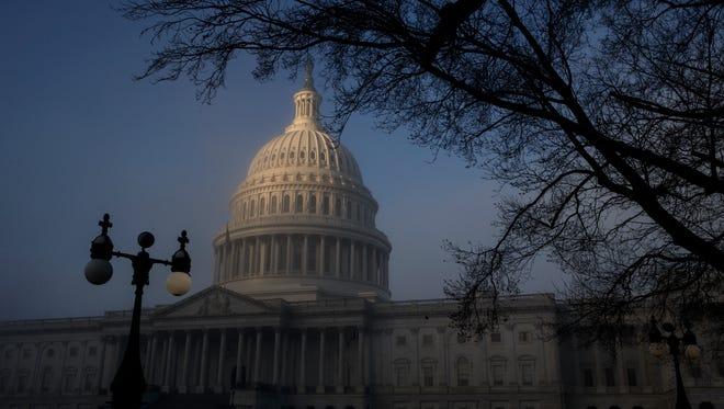 File photo taken in Jan. 2018 shows the U.S. Capitol in Washington, D.C.