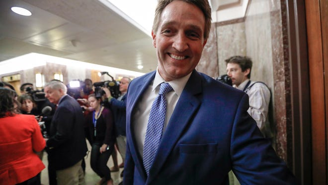 """Sen. Jeff Flake, a critic of President Donald Trump, will talk on """"Country Over Party"""" in New Hampshire, host of the first 2020 presidential primary."""
